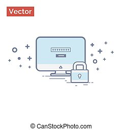 Computer protected minimalistic illustration