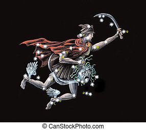 Constellation The Hero, rescuer of Andromeda Perseus