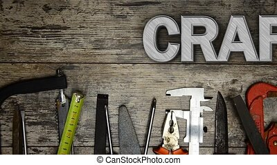 "Word ""crafting"" with lots of tools - Word crafting with lots..."