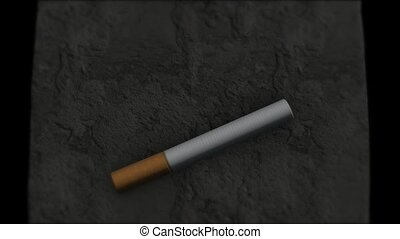 Smoking death. Life-threatening habits. Death - Death....