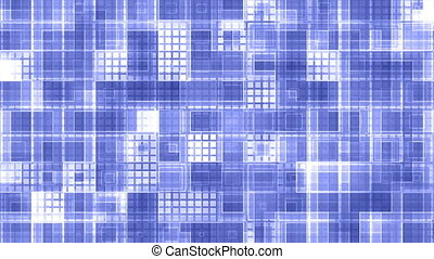Blue squared VJ loop - Strobe blue squared VJ style abstract...