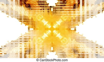 Glitch mode orange yellow white loop - Animated glitch mode...