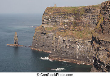 Cliff of Moher - Panoramic shot of cliffs of moher in...