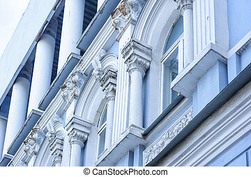 beautiful old architecture arches columns and pilasters.