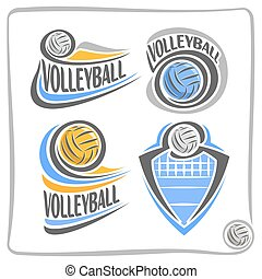 Vector logo Volleyball Ball - Vector abstract logo...