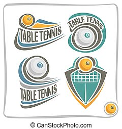 Vector abstract logo Table Tennis Ball, decoration sign...