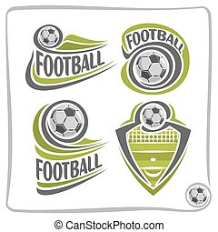 Vector abstract logo Football Ball, decoration sign sports...