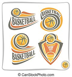 Vector abstract logo Basketball Ball, decoration sign sports...
