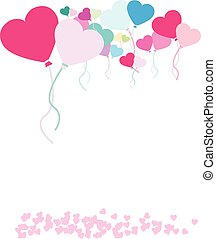 heart balloon background of balloons and hearts - vector...