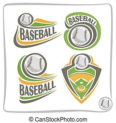 Vector abstract logo Baseball Ball, decoration sign sports...