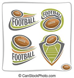 Vector abstract logo american Football Ball, decoration sign...