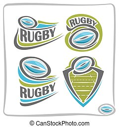Vector abstract logo Rugby Ball