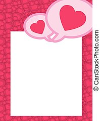 speech bubble with hearts to show a couple match - vector...