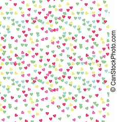 heart drop background on white - vector image of a repeat...