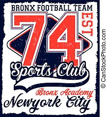 American football Athletic New york Varsity Sport vector print and t shirt design