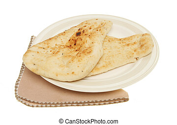 Naan bread on a plate