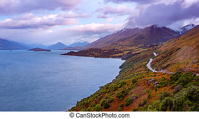 Bennett's bluff viewpoint on the road from Queenstown to...