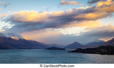 View from Bennetts bluff viewpoint near Queenstown, New...