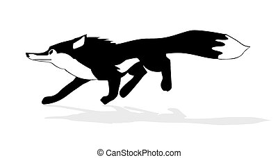 illustration of the fox on white background