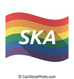 Isolated Gay Pride flag with the text SKA - Illustration of...