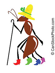 vector drawing ant