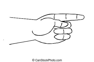 vector silhouette of the hand