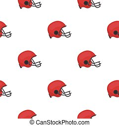 American football helmet icon in cartoon style isolated on...