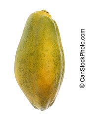 Papaya Isolated - Isolated image of a Malaysian papaya.