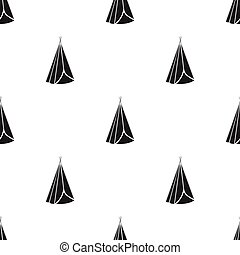Wigwam icon in black style isolated on white background....