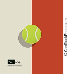 Tennis ball - Background with green tennis ball and shadow