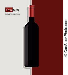 Wine bottle red