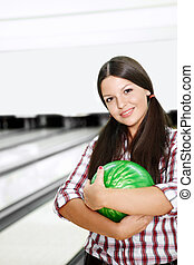 The girl in bowling
