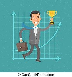 Concept businessman and success