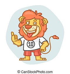 Lion Smiling and Showing Thumbs Up