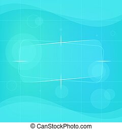 Abstract Background Blue Green Color with Different Objects