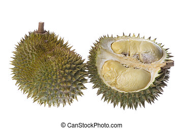 Durians Isolated - Isolated image of Durians, the King of...