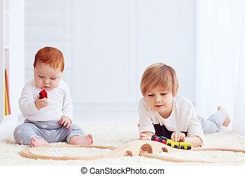 2UTE, 孩子, 玩具, 家, 鐵路, 玩, 路