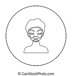 Cosmetic plastic surgery icon in outline style isolated on white background. Skin care symbol stock vector illustration.