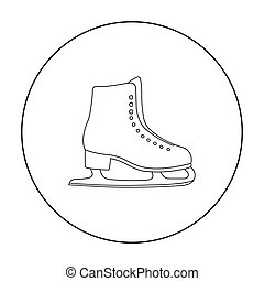 Skates icon outline. Single sport icon from the big fitness,...