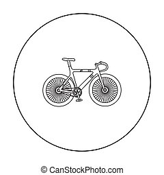 Bicycle icon outline. Single sport icon from the big...
