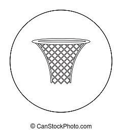 Basketball hoop icon outline. Single sport icon from the big...