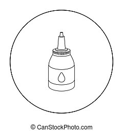 Tattoo paint tube icon outline. Single tattoo icon from the...