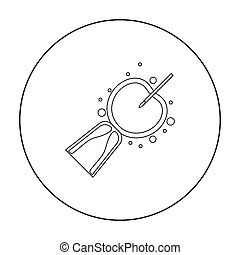 Artificial insemination icon in outline style isolated on...