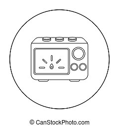 Power Supply tattoo icon outline. Single tattoo icon from...