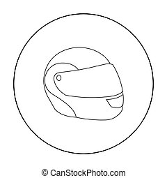 Motorcycle helmet icon outline. Single sport icon from the...