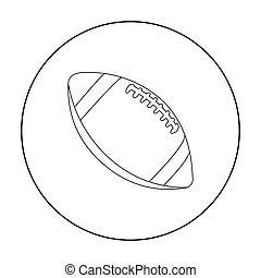 Rugby ball icon outline. Single sport icon from the big...