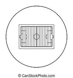 Stadium icon outline. Single sport icon from the big...
