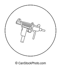 UZI weapon icon outline. Single weapon icon from the big...