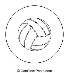Volleyball icon outline. Single sport icon from the big...