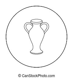 Amphora icon in outline style isolated on white background....